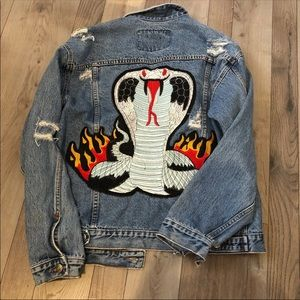 LF Jackets & Coats - LF Stores Furst of a kind flame distressed jacket